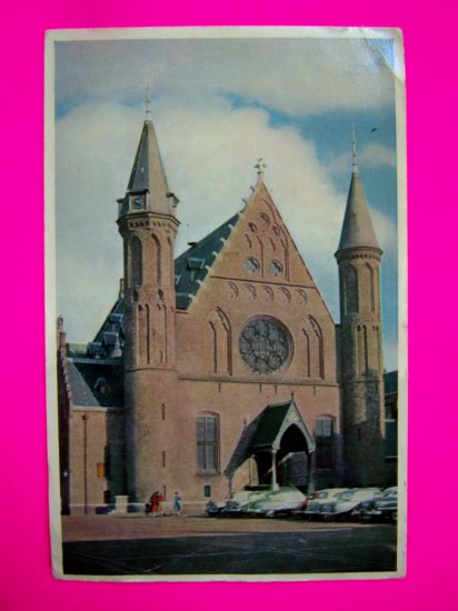 Vintage Postcard Den Haag The Hague Binnenhof en Ridderzoal Binnenhof hall knights