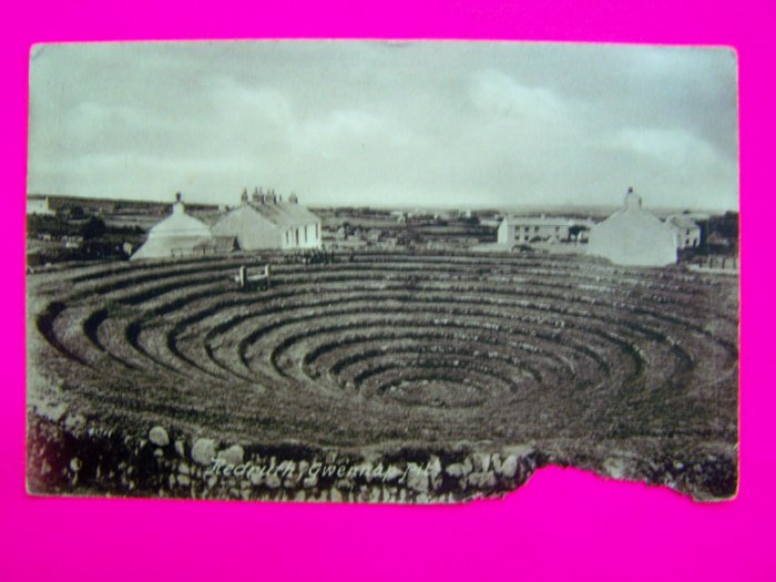 Antique Postcard Redruth Givennap Pit Cornwall England United Kingdom UK