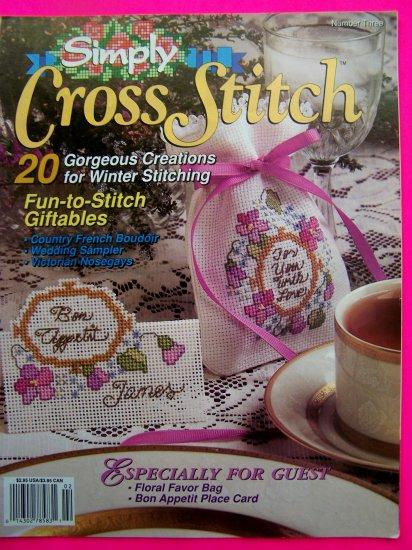 Simply Cross Stitch # 3 Pattern Magazine 20 Back Issue Patterns Book