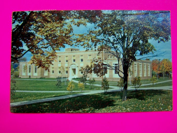 Vintage Postcard College Library State University Teachers College 1950s Chrome