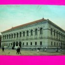Antique 1910 Postcard Public Library Building Boston Mass Massachusetts USA