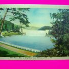 1940s Linen Postcard Loch Raven Dam and Spillway near Baltimore MD Maryland Post Card