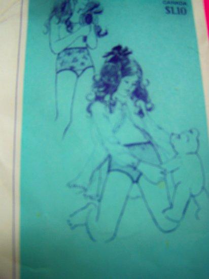 Girls Vintage Panties Brief Panty Sewing Pattern Sz 1 2 4 6 8 10 12 14 # 2010