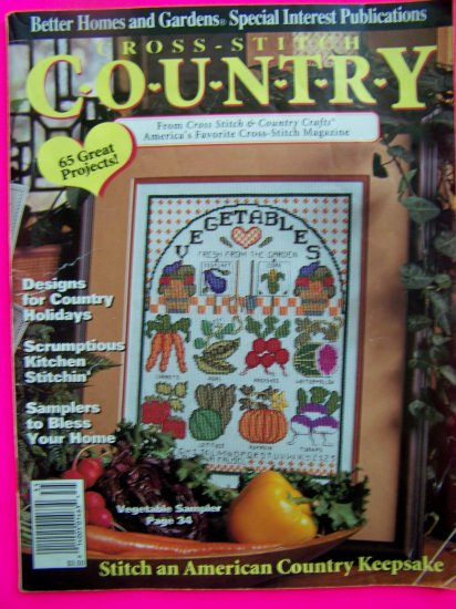 90s Cross Stitch Country Better Homes and Gardens Pattern Back Issue Magazines
