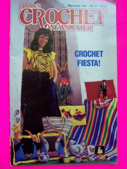 Vintage Annie's Attic Crochet Pattern Newsletter Fiesta Spanish Crocheting Patterns 27