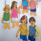 Boys Girls 5 6 Summer Tank Tops Sun Shirts Vintage sewing pattern 6950 FREE Ship with Other Purchase