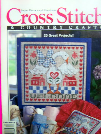 Better Homes & Gardens Cross Stitch & Country Crafts Feb 1993 Patterns