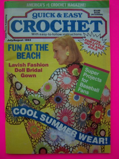 1990s Quick & Easy Crochet Patterns Book Crocheting Pattern Afghans Shawls