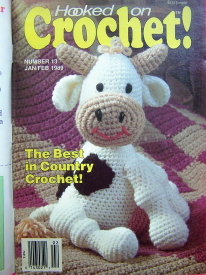 1980s Hooked on Crochet Pattern Magazine 13