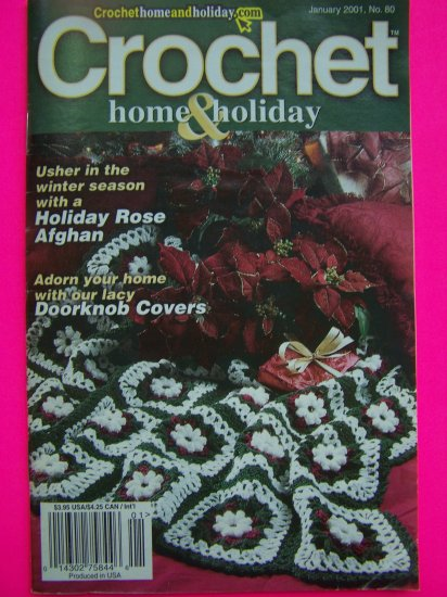 Crochet Home and Holiday Pattern Book Jan 2001 Christmas Crocheting Patterns