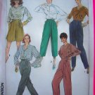 80s Hi Waisted Dress Pants Capri Shorts Pleat Front Tapered Leg Sewing Pattern 7179
