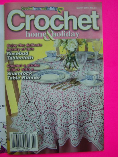 Crochet Home and Holiday Pattern Magazine Back Issue Patterns # 81