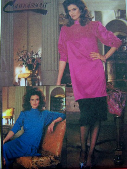 Vintage Drape Front Dress or Tunic Top Sz 14 Sewing Pattern 7160