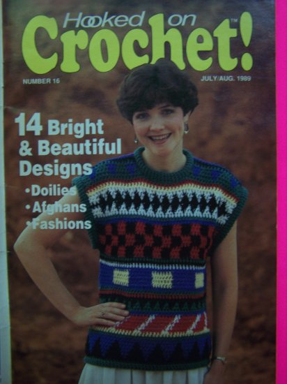 Vintage 1980s Hooked On Crochet Pattern Back Issue Magazine # 16