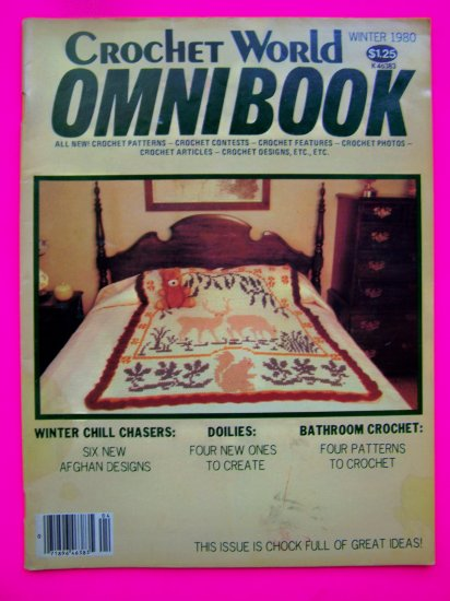 Vintage Crocheting Patterns Crochet World Omnibook Magazine Winter 1980