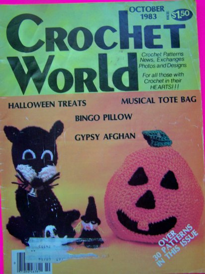 Vintage Crochet World Pattern Magazine October 1983 Halloween