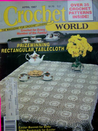Vintage Crochet World Magazine Crocheting Patterns 1987