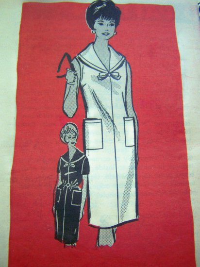 Uncut 1960s Mod Misses Sailor Dress Vintage Mail Order Sewing Pattern 9442