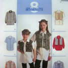 Girls 3 4 5 Short or Long Sleeve Mock Vest Shirts Sewing Pattern 8980