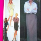 Wrap Skirt Knee or Long Maxi Length Misses 6 8 10 12 14 16 Uncut Sewing Pattern 2548