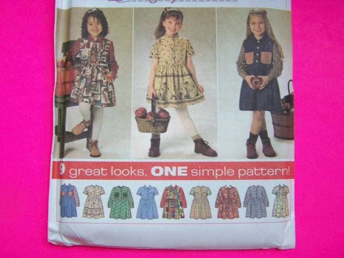 New Empire Waist Full Skirt Dress Toddler Girls 3 4 5 6 Sewing Pattern 7746