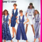 Misses Deep V Jumper Dress Shorts Capri Pants 6 8 10 12 14 16 Sewing Pattern 7877
