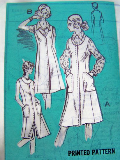 70s New Vintage Jumper Dress Sundress B 36 Prominent Designer Mail Order Sewing Pattern A 943