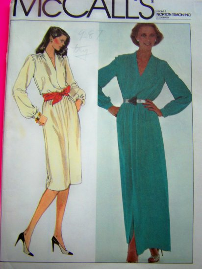 1980s Vintage Dress Plus Size 18 Bust 40 Long Maxi Gown Sewing Pattern 7359