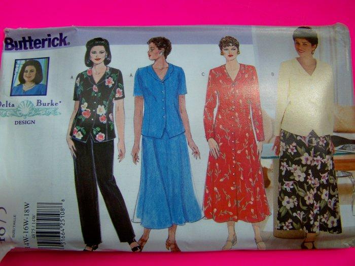 Womens Plus Size Delta Burke 20W 22W 24W Sewing Pattern 4875
