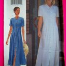 1990s A Line Dress Front Tucks 6 8 10 Easy Sewing Pattern 4877