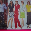 Misses Tie back Top A Line or Flared Skirt Pants Sz 6 8 10 Sewing Pattern 4878