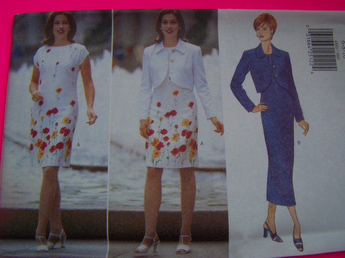 1990s Misses Jacket and Dress 12 14 16 Uncut Butterick Sewing Pattern 4880
