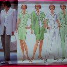 Princess Seam Jacket Top Skirt Pants Suit 12 14 16 Misses Butterick Sewing Pattern 4888