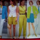 Plus Size 18 20 22 Jacket Top Shorts Pants Scarf Ellen Tracy Sewing Pattern 4889