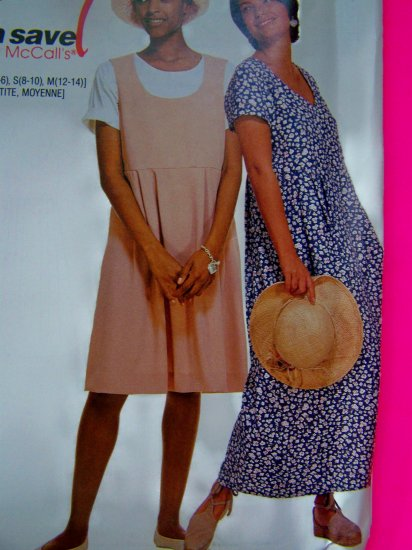 Easy Pullover Empire Waist Dress L XL 16 - 22 Plus Size McCalls Sewing Pattern 7479