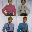 Ladies 14 16 18 Long Sleeves Blouses Shirts McCalls Sewing Pattern 7803