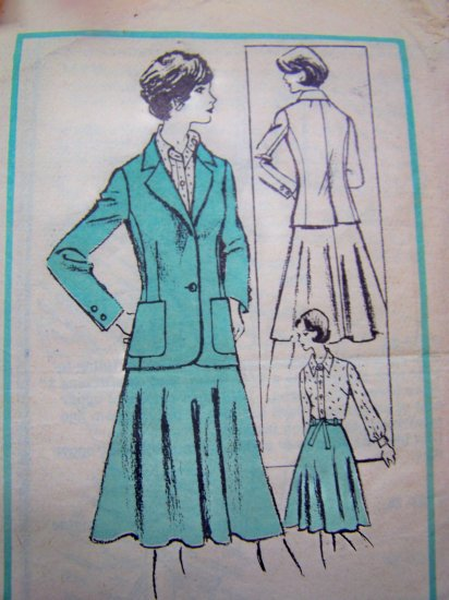 70s Vintage Blouse Skirt Jacket Prominent Designer McMullen Mail Order Sewing Pattern M 321