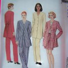 1990s Misses 8 10 12 Suit Jacket Top Pants Shorts Sewing Pattern McCalls 7823