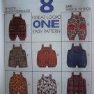 Infants Jumpsuit or Romper Onesie S M L XL or 13 - 24 Lbs Sewing Pattern 7829