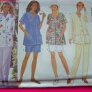 Misses Smock  Jacket Shirt Slim Shorts Pants XS S M 6 - 14 Sewing Pattern 4890