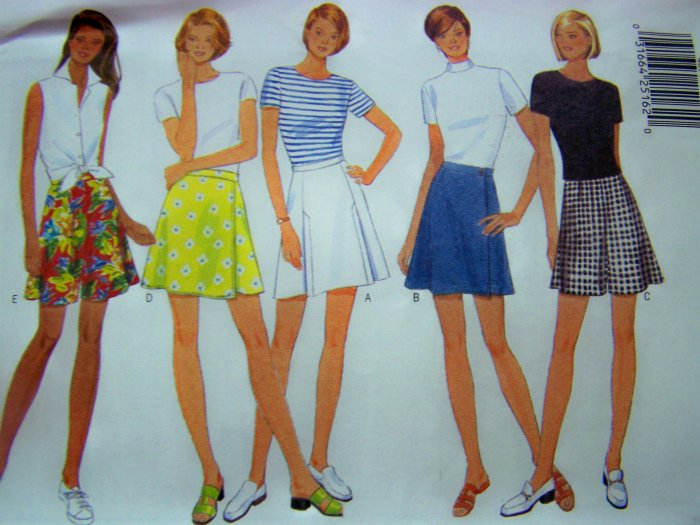 Plus Size Skorts Shorts 18 20 22 Butterick Sewing Pattern 4894 Free SHIPPING