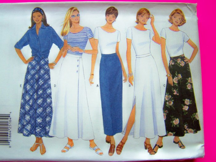 Misses Skirt Tapered or Flared Long Maxi Skirts 6 8 10 Sewing Pattern 4895