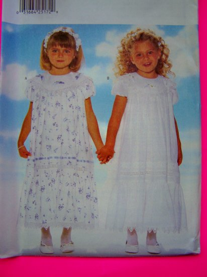 FREE USA S&H New Toddlers 1 2 3 Long Dress Slip Headband Sewing Pattern 4899  FREE Shipping