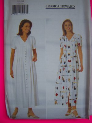 Misses A Line Dress Long Ankle Length Back Tie Jessica Howard 12-16 Sewing Pattern 4913