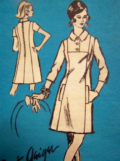 Vintage Sewing Pattern Dress Mail Order Bert Geiger Designer Sewing Pattern A 574