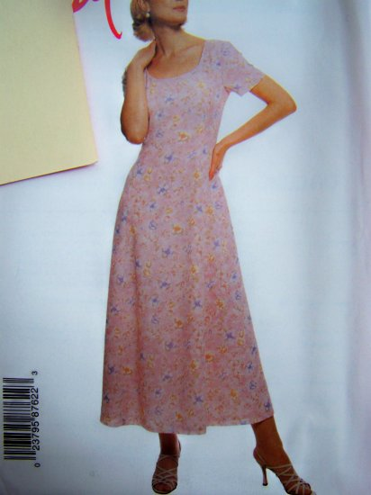 Womens Pullover Dress Princess Seams Plus Size 18 20 22 24 Sewing Pattern 8762