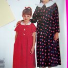 Girls 2 3 4 5 6 Long Dress Shirt Waist Gathered Skirt McCalls Sewing Pattern 8873 Free Shipping
