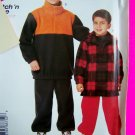 Boys M L XL Winter Pullover Shirt Pants Sewing Pattern 8875 Fleece Sweatshirt FREE Shipping