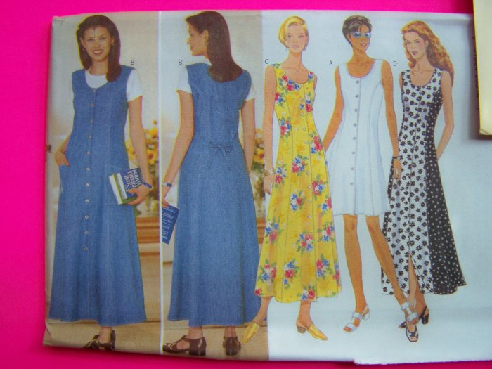Ladies Jumper Dress Sundress Flared Sleeveless 12 14 16 Sewing Pattern 4932