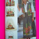 Hollyhocks and Hares Applique Vest Skirt Purse Belt 8 10 12 14 16 Sewing Pattern 4966